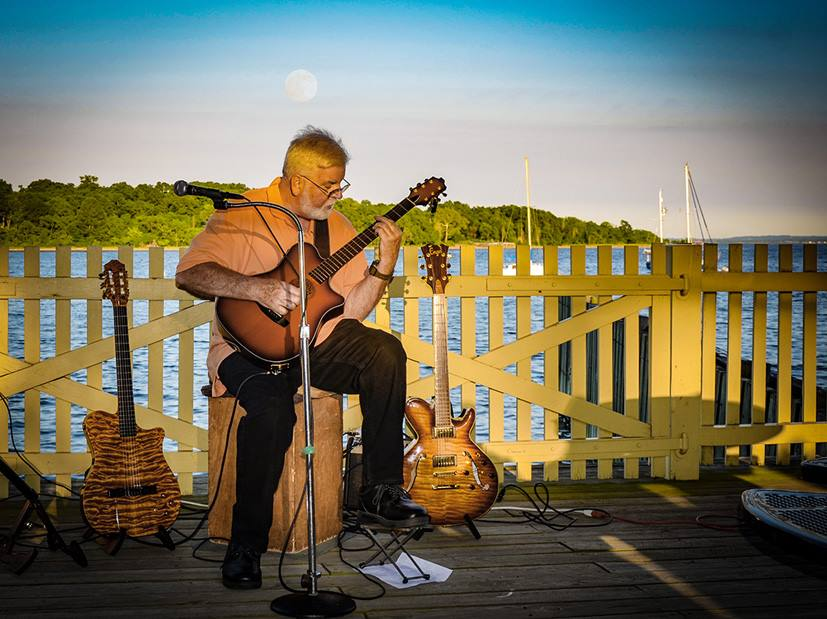 Joseph Frame performs at the Live at the Ferry Slip Music Series hosted by Perth Amboy Artworks