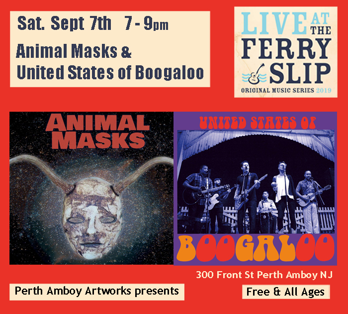 Animal Masks and United States of Boogaloo at the Ferry Slip